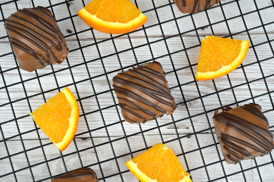 Orange & Geranium Chocolate Fondant Fancies Recipe