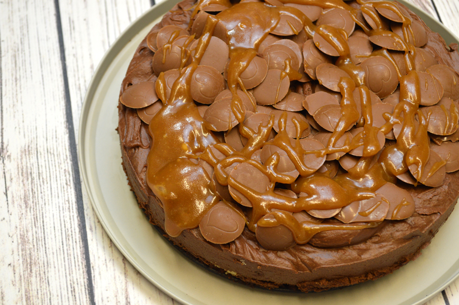 Salted Caramel Chocolate Mousse Cake